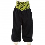 Pantalon bouffant Peace and Love noir