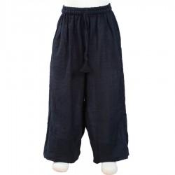 Pantalon uni noir     6mois