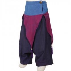 Pantalon afgano chica etnica hada ciruela