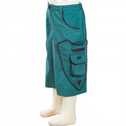 Pantalon corto etnico chico azul petroleo