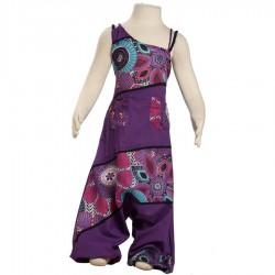 Combinaison Sarouel enfant violette