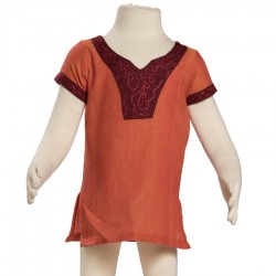 Girl indian tunic orange