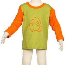 Tee-shirt manches longues Ganesh vert anis 3mois