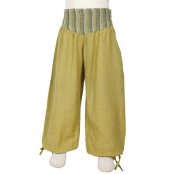 Baggy girl trousers Aladin lemon green