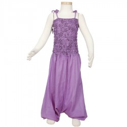 Ethnic girl moroccan trousers dress light purple