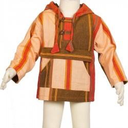 Sudadera capucha chico hippie naranja