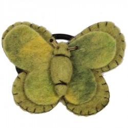 Elastique cheveux chouchou papillon vert