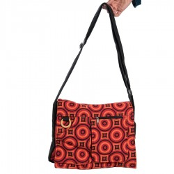 Psychedelic ethnic bag orange