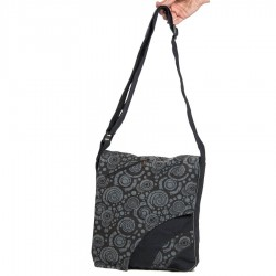 Ethnic shoulder bag grey