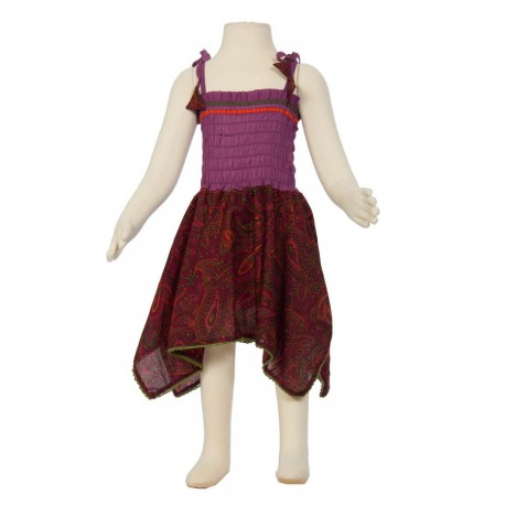 Robe baba cool fille bordeaux
