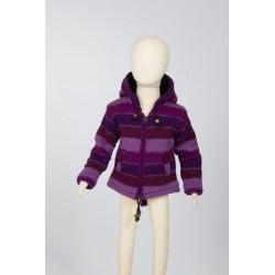 Veste laine bébé fille violette 6mois