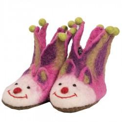 Felt girl slippers pink jocker