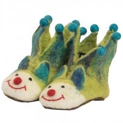 Felt craft slippers lemon green jocker