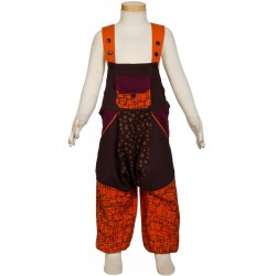 Kid afghan overall ethnic brown