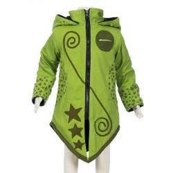 Ethnic girl coat sharp hood lemon
