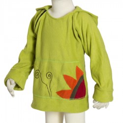 Girl ethnic polar sprite hood lemon green