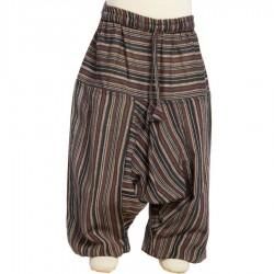 Pantalon rayado chico algodon tradicional negro marron