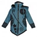Manteau babacool enfant bleu pétrole
