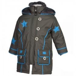 Manteau ethnique garçon imperméable et fourré