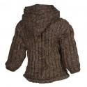 Blouson enfant laine uni marron