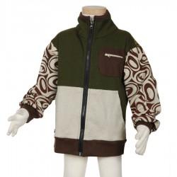 Boy ethnic jacket army