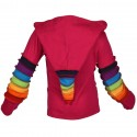 Veste fille Rainbow Rose