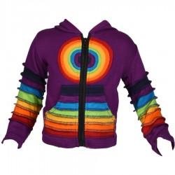 Veste Rainbow fille Violette