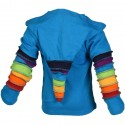 Veste Rainbow capuche pointue