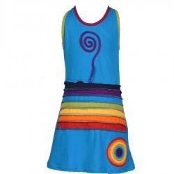 Robe Rainbow enfant turquoise