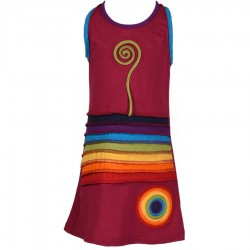 Robe ethnique Rainbow rose