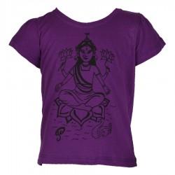 Teeshirt babacool fille Durga violet