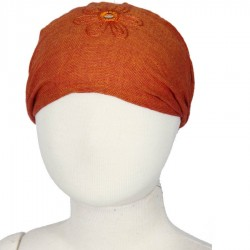Bandeau cheveux fille uni orange