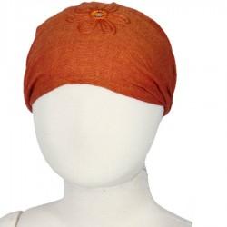 Hairband kid baby girl woman embroidered plain orange