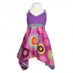 Robe imprimée fille violette