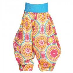 Pantalon Aladin enfant rose jaune turquoise