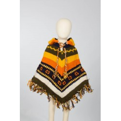 Wool poncho boy hippy 3-4years G2