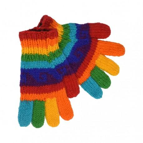 Gants laine enfant rainbow