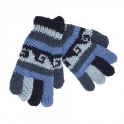 Gants laine garçon bleu