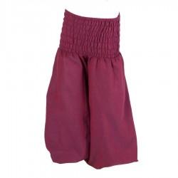 Sarouel coton enfant uni violet 6mois
