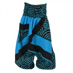 Sarouel spirale enfant turquoise