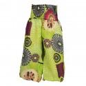 Pantalon indien bouffant imprimé vert anis
