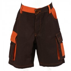 Short ethnique enfant orange et marron