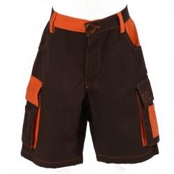 Short ethnique enfant orange et marron