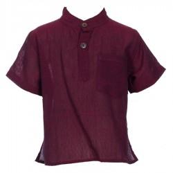 Plain dark red shirt     3months