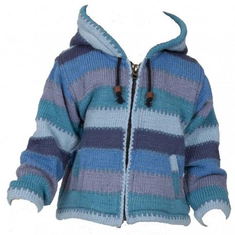Blouson laine capuche pointue