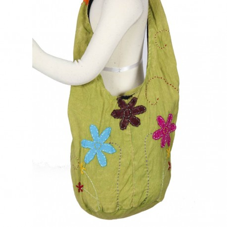 Sac ethnique babacool vert anis