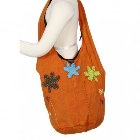 Sac ethnique enfant orange