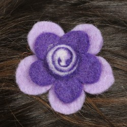 Barrette enfant violette spirale