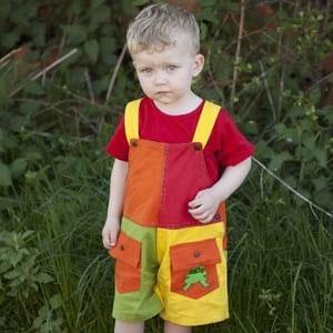 Multicolor overalls