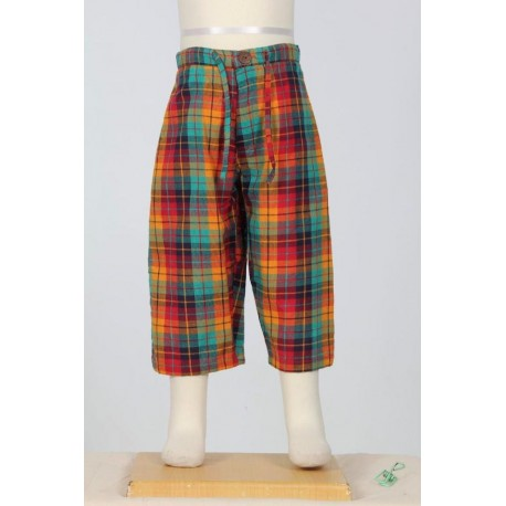 Pantalon corto hippie nino multicolores
